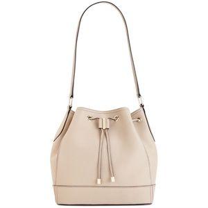 Calvin Klein Leather Bucket Bag